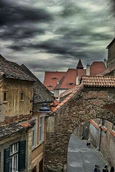 old city wall of sibiu in hdr by Christian Petrea on - Les Balkans, Sibiu Romania, Old Port, Old City, Eastern Europe, Hdr, Continents, Places To See, Beautiful Places