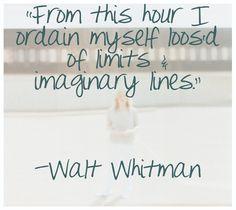 Walt Whitman quote via Laura Vogt Photography