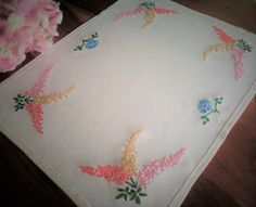 Check out this item in my Etsy shop https://www.etsy.com/uk/listing/481649275/hand-embroidered-vintage-tray-cloth
