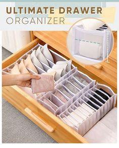 Underwear Storage, Underwear Organization, Bedroom Organization Diy, Home Organization Hacks, Diy Bedroom Decor, Organizing, Dresser Drawer Organization, Bra Storage, Dresser Drawers