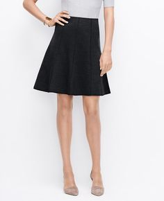 Petite Bonded Jersey Flounce Skirt - In rich bonded jersey, our soft flounce skirt is positively polished. Try an easy silhouette on top to let the skirt be the focus. Hidden back zipper with snap closure. Dress Skirt, Midi Skirt, Stitch Fix Dress, Jersey Skirt, What To Wear Today, Autumn Winter Fashion, Winter Style, Winter Wear, Fall Fashion