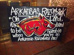 Arkansas Razorback Canvas Painting by KreativeKreations21 on Etsy, $50.00 by longyly