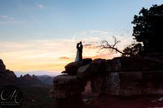 #Sunsetwedding #sedonawedding #redrockwedding