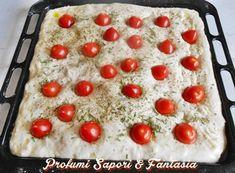 Focaccia soffice con fiocchi di patate e pomodorini Blog Profumi Sapori & Fantasia