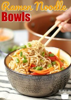 Ramen Noodle Bowls recipe from The Country Cook (Doesn't use the flavor packets)