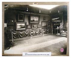 Exposición de pintura, salón Witcomb 1906 Buenos Aires. Argentina.