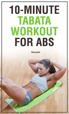 10-Minute Tabata Workout for Abs   ab workout   workouts for women   www.skinnyms.com