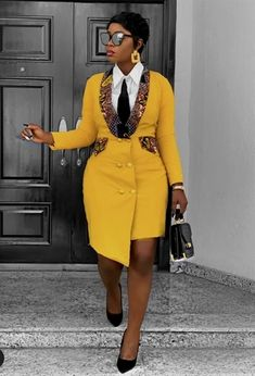 African Blazer Dress, African clothing for women,African print, African Dress - African fashion African Wear Dresses, Latest African Fashion Dresses, African Print Fashion, African Attire, Fashion Prints, Women's Dresses, Ankara Fashion, Modern African Fashion, Africa Fashion