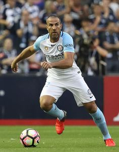 Manny Muscat of Melbourne City runs with the ball during the round 18 A-League match between Melbourne Victory and Melbourne City FC at Etihad Stadium on February 4, 2017 in Melbourne, Australia.