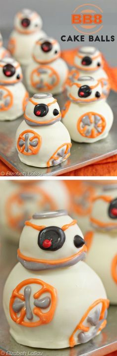 BB-8 Cake Balls - these ARE the droids you've been looking for! These super cute candies are perfect for a Star Wars party! | From candy.about.com