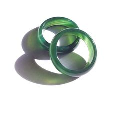 Dark Green Agate Ring Band size 6.5 - 11.5