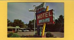Bar-x Motel,north Platte,ne Nebraska Covered Wagon Billboard Sign