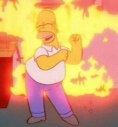 This is fine Cartoon Icons, Cartoon Memes, Cartoons, The Simpsons, Simpsons Meme, Simpsons Quotes, Memes Gretchen, Dankest Memes, Funny Memes