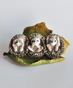 Look at this Three No Evils Baby Hedgehogs Figurine on #zulily today!
