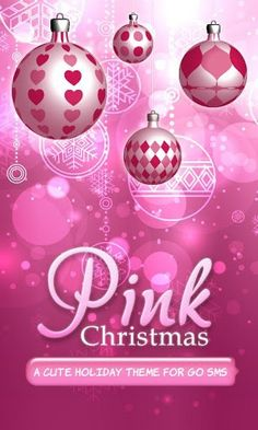 Free Pink Christmas Theme For Android