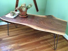 Live Edge Walnut Slab Coffee Table // Reclaimed Ohio by SlabLife