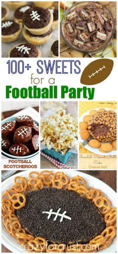 Over 100 Treats to serve at a football party | crazyforcrust.com
