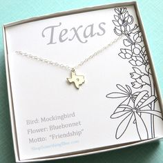 Diamond State of Texas Necklace with Open by ShopSomethingBlue, $55.00