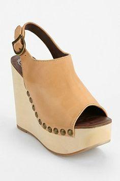 Jeffrey Campbell Snick Peep-Toe Platform Wedge Sandal