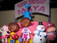 Maya's Doc McStuffin's Birthday Cake for her kids spa party!