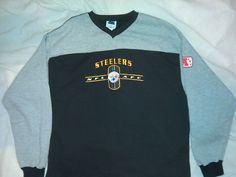NFL AFC Pittsburg Steelers Black&Gray XL Long Sleeve Sweat Shirt Apparel