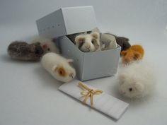 Gaizymai - Needle Felted Tiny Guinea Pigs makes me think of Erika :)
