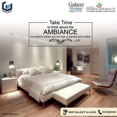 Before you begin buying furniture for your bedroom, make sure you decide upon the lighting, wall colour, or bedroom wallpaper, and the type of flooring that you want. The colour you choose to paint, or wallpaper your walls with, will help you create a calm and serene atmosphere and can also work as a guide for additional bedroom furniture. #Galaxygroup #RealEstate #Homes #CommercialProjects #RealEstateProject #NoidaProperty #GalaxyRoyale #GalaxyGroupFlats #GalaxyPlaza