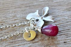 Personalized Charm Red Rudy July Birthstone by TwistedSilverDesign, $32.80