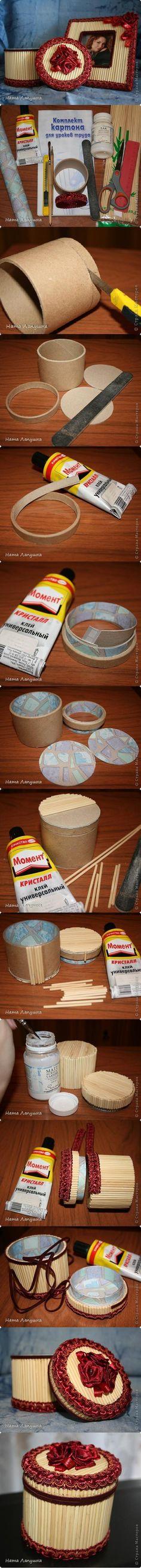 Shoebox Crafts : DIY Beautiful Round Box