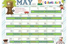 May 2013 Calendar   Cullen's Abc's   free Online Preschool