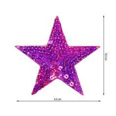 Patch 8 cm aufbügler estrella lentejuelas parchear aplicación perchas imagen Patch