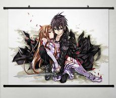 Home Decor Anime Sword Art Online Cosplay Wall Scroll Poster Kirito & Asuna 23.6 X 17._.7 Inches-013
