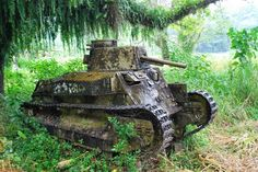 A Type-89 medium tank rests where it fought it's last battle on the island of Bougainville.