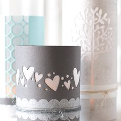 DIY Luminaries using Simon Says Stamp Dies by Shari Carroll