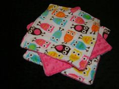 3 Minky Wash Cloths Ships in 2-3 Business by tarascozycreations