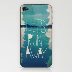 Let's Run Away XI iPhone & iPod Skin by Leah Flores - $15.00