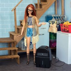 Barbie Doll Set, Beautiful Barbie Dolls, Barbie I, Barbie And Ken, Miniture Dollhouse, Diy Dollhouse, Cute Christmas Outfits, Barbie Fashionista Dolls, Barbie Diorama
