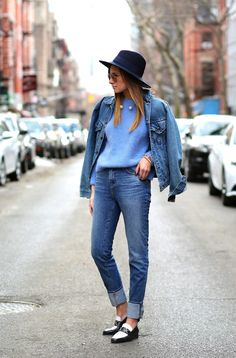 denim jacket with blue top 2017 and jeans