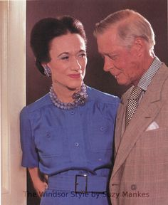 The Duke and Duchess Of Windsor Wallis Simpson.....Uploaded By www.1stand2ndtimearound.etsy.com