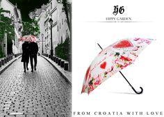 HIPPY GARDEN  From Croatia with Love Umbrella - ultimativni hit sezone smile emoticon www.hippygarden.net/en_US/product/kisobran-suvenir-bijeli/ Showroom Masarykova 5 | Zagreb | Croatia