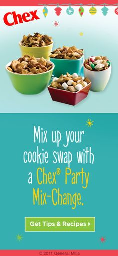 I love love love Chex mix. And the amazing thing is there are so many great recipe ideas! And some of them you can whip together in the microwave for a unique snack for movie night:)