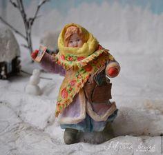 Новый год 2016 ручной работы. Ярмарка Мастеров - ручная работа. Купить Ватная елочная игрушка ПОЧТАЛЬОН ЛЮБАША. Handmade. вата