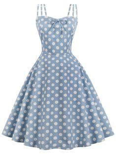 0f0f66a00 1950s Spaghetti Strap Polka Dot Dress – Retro Stage - Chic Vintage Dresses  and Accessories Cheap