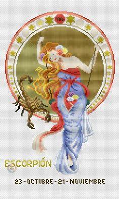 Скорпион - Вышивка