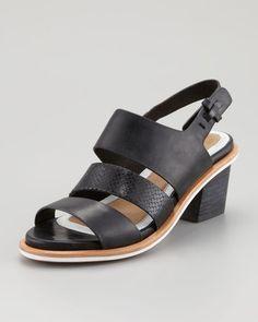 Rag & Bone - Folsom Mid-Heel Sandal, Black