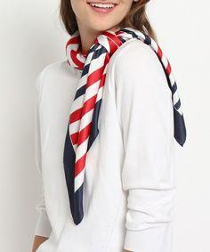 Gestreepte sjaal van ondoorzichtige (ondoorzichtige) (kraam / snood) | afbeelding gedetailleerde