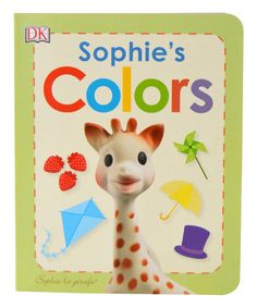 Sophie and friends book! 10 pages for learning about Sophie la girafe and her friends. Sophie Giraffe, Giraffe Colors, Baby Sense, Friend Book, Gifts For New Parents, Toddler Books, Everything Baby, Colour Board, Baby Boutique