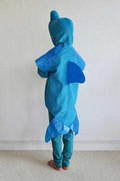 Kostüme für Kinder - Delfin 6-7 Jahre, türkisblau, Fisch, Wal, Bla... - ein Designerstück von maii-berlin bei DaWanda