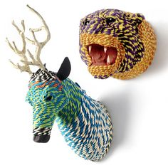 Taxidermy - recycled rope.