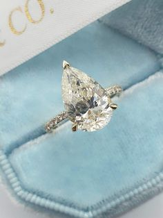 Cute Engagement Rings, Pear Shaped Engagement Rings, Engagement Ring Shapes, Halo Diamond Engagement Ring, Diamond Wedding Bands, Wedding Engagement, Pear Wedding Ring, Wedding Rings, Most Beautiful Engagement Rings